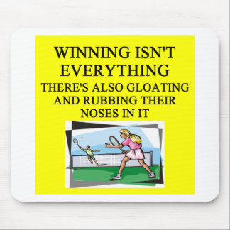 tennis lover mouse pad