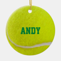 Tennis Lover Personalized Ornament