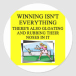 tennis lover sticker