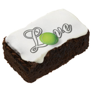 Tennis Lover's Gift Party Ideas Chocolate Brownie