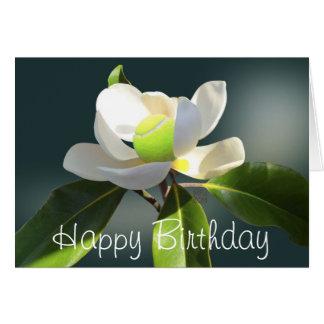 Tennis Magnolia happy Birthday personalized Card