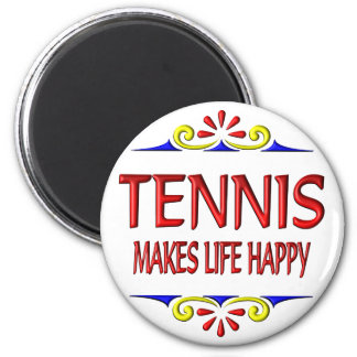 Tennis Makes Life Happy Refrigerator Magnet