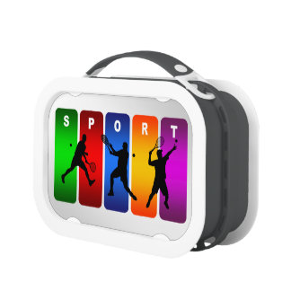 "Tennis ""Male"" Sport Lunch Box (Multiple Colors)"
