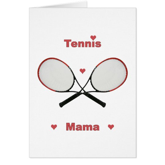 Tennis Mama Hearts Card