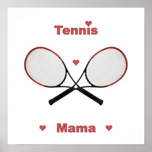 Tennis Mama Hearts Print