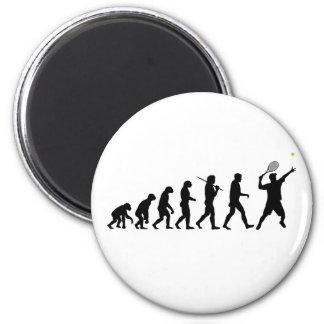 Tennis Man 2 Inch Round Magnet