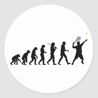 Tennis Man Classic Round Sticker