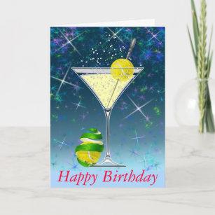 Tennis birthday cards zazzle tennis martini happy birthday card m4hsunfo