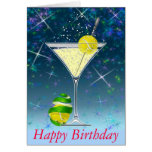 Tennis Martini, Happy Birthday Greeting Cards