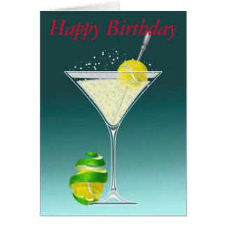 tennis martini Happy Birthday personalized Card