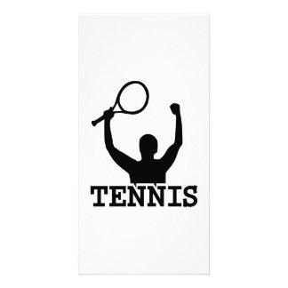 Tennis match winner photo greeting card