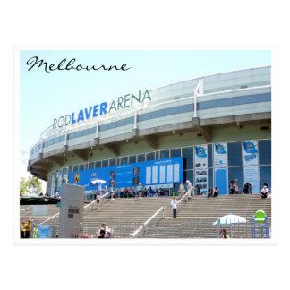 tennis melbourne arena postcard