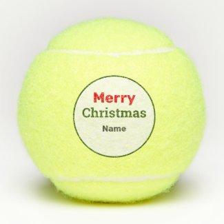 Tennis Merry Christmas Tennis Balls