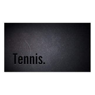 Tennis Modern Bold Text Professional Dark Business Card