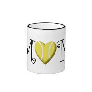Tennis Mom, Black Ringer Mug
