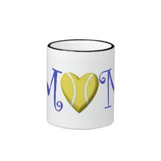 Tennis Mom, Blue Ringer Mug