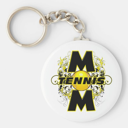 Tennis Mom (cross).png Keychain