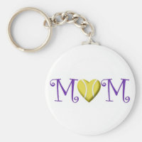 Tennis Mom Keychain, Purple Keychain
