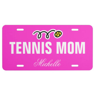 Tennis mom license plate | custom name and color
