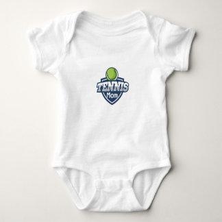 Tennis Mom Mothers Day Gift Love Tennis Baby Bodysuit