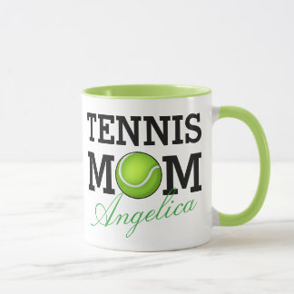 Tennis Mom Personalized Name Mug