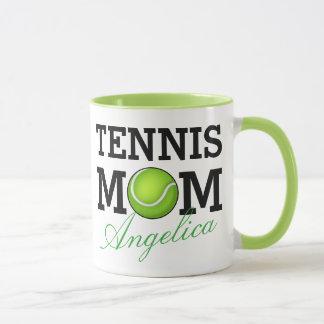 Tennis Mom Personalized Name Mug