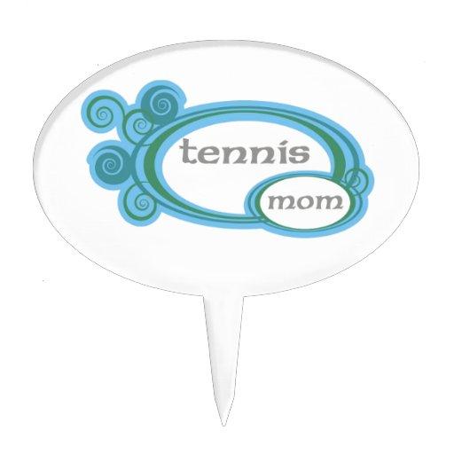 Tennis Mom Swirl Cake Topper