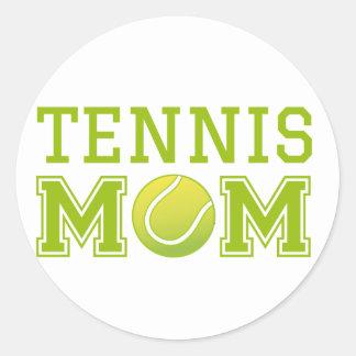 Tennis mom, text design for t-shirt classic round sticker