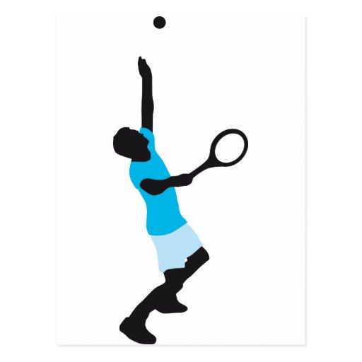tennis more player postcard