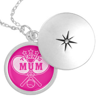 Tennis Mum Silver Plated Necklace