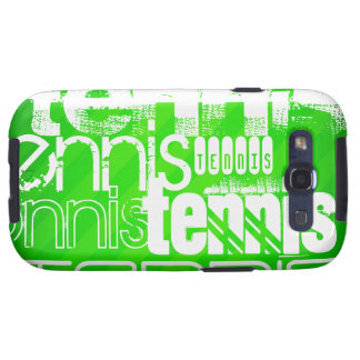 Tennis; Neon Green Stripes. Samsung Galaxy S3 Cases