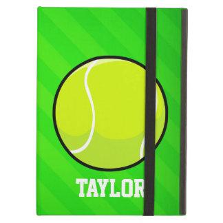 Tennis; Neon Green Stripes Cover For iPad Air