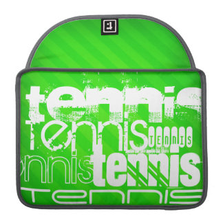 Tennis; Neon Green Stripes. Sleeve For MacBooks