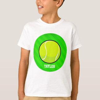 Tennis; Neon Green Stripes T-Shirt