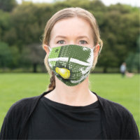 Tennis Net Ball Design Face Mask