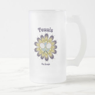 Tennis Not Drugs Frosted Glass Beer Mug