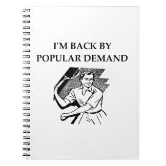 tennis note books