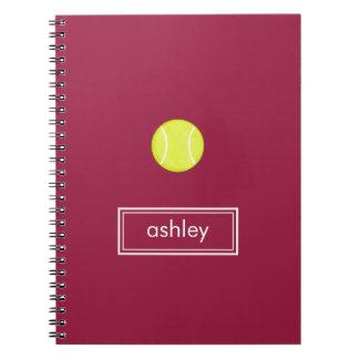 Tennis Notebook (Burgundy)