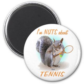 Tennis Nut 2 Inch Round Magnet