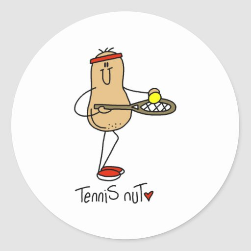 Tennis Nut Classic Round Sticker