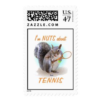 Tennis Nut Postage Stamp