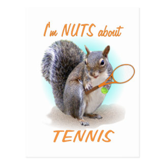 Tennis Nut Postcard