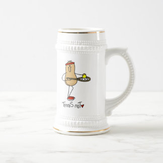 Tennis Nut T-shirts and GIfts Beer Stein