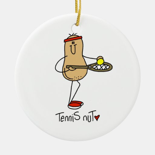 Tennis Nut T-shirts and GIfts Christmas Ornaments