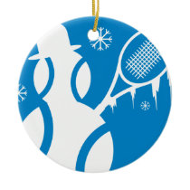 Tennis Ornament Christmas snowman
