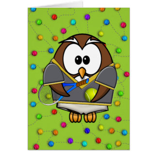 tennis-owl boy card