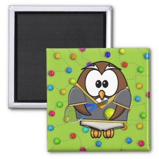 tennis-owl boy fridge magnets