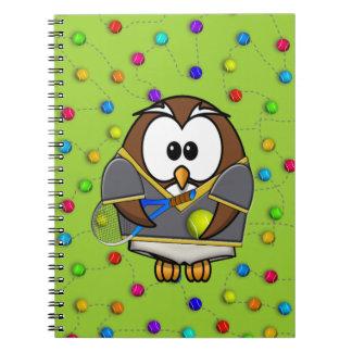 tennis-owl boy notebook