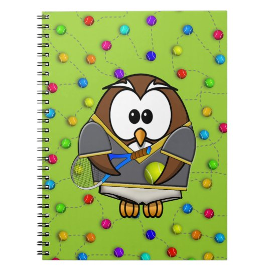 tennis-owl boy notebook