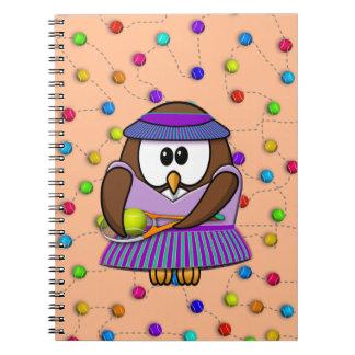 tennis-owl girl notebook